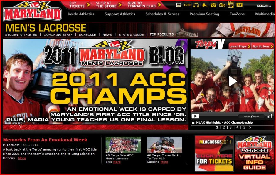 Maryland - 2011 ACC Champs