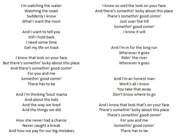 Lyrics - Somethng Good Coming